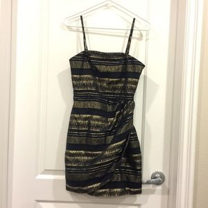 Armani Exchange Black and Gold Dress Size 0